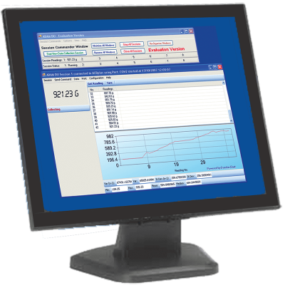 Computer Monitor Showing AdamDU Software on Screen