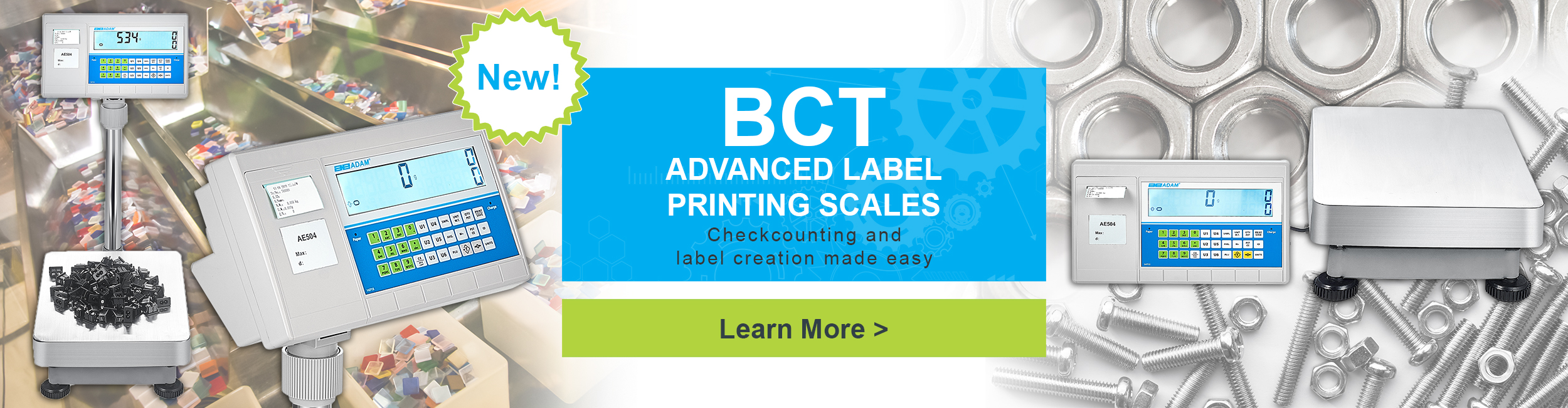 New! BCT Advanced Label Printing Scales. Checkcounting and label creation made easy.